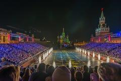Moskva Ryssland - 08 24 2018 - 09 02 2018: FestivalSpasskaya släp royaltyfria foton