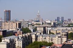 Moskva Ryssland horisont Royaltyfria Bilder