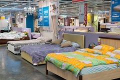 MOSKVA RYSSLAND - 24 09 2015 Inre av shoppar Hoff - en av det största ryska möblemangnätverket Royaltyfria Bilder