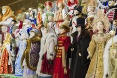 Moskva Ryssland - Januari 10 2015 dockor är Royaltyfri Fotografi