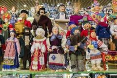 Moskva Ryssland - Januari 10 2015 dockor är Arkivbild