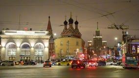 MOSKVA RYSSLAND - Januari 27 2017: Taganskaya fyrkant arkivfilmer