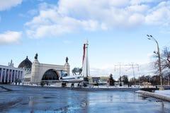 MOSKVA RYSSLAND - Januari 20, 2017: VDNKh parkerar Arkivfoto
