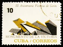 MOSKVA RYSSLAND - JULI 15, 2017: En stämpel som skrivs ut i Kuba, visar Mo Royaltyfri Foto