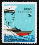 MOSKVA RYSSLAND - JULI 15, 2017: En stämpel som skrivs ut i Kuba, visar sa Arkivbilder
