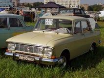 MOSKVA RYSSLAND - Juli 15, 2008: `-Moskvich ` - 412, sovjetisk Autoexotic för bilutställning` 2008 `, Fotografering för Bildbyråer