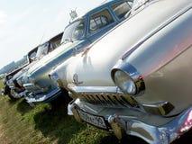 MOSKVA RYSSLAND - Juli 15, 2008: Volga för ` GAZ-21 `, sovjetisk Autoexotic för bilutställning` 2008 `, Royaltyfria Bilder