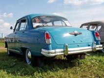 MOSKVA RYSSLAND - Juli 15, 2008: Volga för ` GAZ-21 `, sovjetisk Autoexotic för bilutställning` 2008 `, Royaltyfri Fotografi