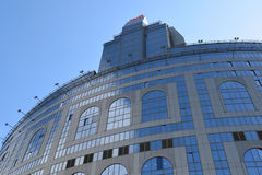 Moskva Ryssland -03 Juni 2016 Det administrativa komplexet av ryska järnvägar för OAO på gatan Kalanchevskaya Arkivbild