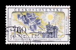MOSKVA RYSSLAND - JUNI 20, 2017: En stämpel som skrivs ut i Czechoslovaki Arkivbilder
