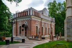 Moskva Ryssland - Juni 08, 2016 Liten slott i Tsaritsyno museumreserv Royaltyfri Fotografi