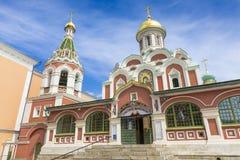 MOSKVA RYSSLAND - JUNI 03: Sikt på den Kazansky domkyrkan på Juni 03, Royaltyfria Bilder