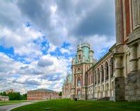Moskva Ryssland - Juni 08, 2016 Storslagen slott i det Tsaritsyno museet Royaltyfri Foto