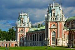 Moskva Ryssland - Juni 08, 2016 Storslagen slott i Tsaritsyno museumreserv Arkivbild