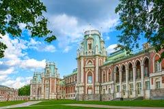 Moskva Ryssland - Juni 08, 2016 Storslagen slott i Tsaritsyno museumreserv Royaltyfri Foto