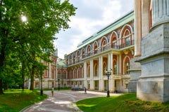 Moskva Ryssland - Juni 08, 2016 Storslagen slott i Tsaritsyno museumreserv Royaltyfri Fotografi
