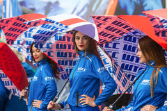 Moskva Ryssland - 12 Juni 2016: världsmästerskap WTCC på Moskvakapplöpningsbanan Royaltyfri Fotografi