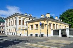 Moskva Ryssland, Juni, 12, 2017 Vorontsovo polgata som bygger 13 De20th århundradena för bondgård Hus av P A Syreyschiko Arkivfoto