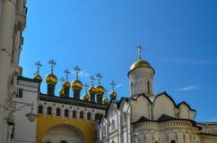 Moskva, Ryssland, Kreml, kyrkan av avlagringen av Natalia och Gregory, 16th århundrade Royaltyfri Bild