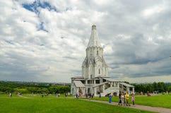 Moskva Ryssland, kyrkan av Kolomenskoye det 14th århundradet Royaltyfri Foto