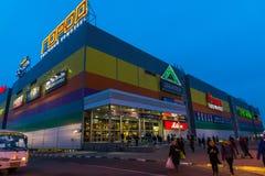 MOSKVA RYSSLAND - Maj 02 2016 Gorod - shopping och en underhållningmitt i Lefortovo Arkivfoton