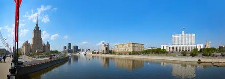 MOSKVA RYSSLAND - MAJ 01: Moskvapanorama - berömd skysc för Stalin ` s Royaltyfria Bilder