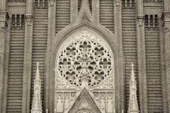MOSKVA RYSSLAND - MAJ 14, 2017: Roman Catholic Cathedral av den obefläckade befruktningen av den välsignade jungfruliga Maryen in Arkivbilder
