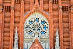 MOSKVA RYSSLAND - MAJ 14, 2017: Roman Catholic Cathedral av den obefläckade befruktningen av den välsignade jungfruliga Maryen in Royaltyfri Fotografi