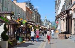 Moskva Ryssland - Maj 06 2017 Rozhdestvenka gata under festivalen av Acapella Royaltyfri Bild