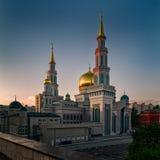 Moskva Ryssland - Maj 24, 2016: Sikt av Moskvadomkyrkamoskén Arkivbilder