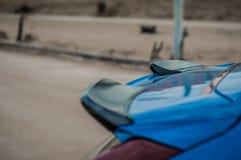 MOSKVA RYSSLAND - MAJ 20, 2017 VOLVO XC60 POLESTAR, framdel-sida sikt Prov av den nya Volvo XC60 polestaren Denna bil är AWD över Royaltyfri Fotografi