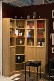 Moskva Ryssland - mars 25, 2018: Modernt möblemangkabinett för prövkopia arkivbild