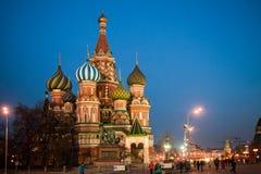 Moskva Ryssland - 14 marsch av 2017, röd fyrkant Arkivbilder