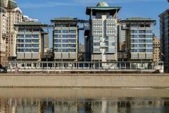 MOSKVA RYSSLAND, modern byggnad av ambassaden av England Royaltyfri Foto