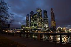 Moskva Ryssland - Oktober 19, 2017: Affärsmitt av Moskva Cit royaltyfria bilder