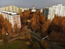 Moskva Ryssland - Oktober 20 2018 Bästa sikt av centret Zelenograd arkivfoton