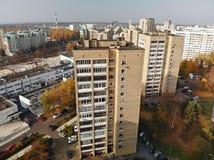 Moskva Ryssland - Oktober 20 2018 Bästa sikt av centret Zelenograd royaltyfria bilder