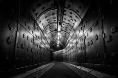 Moskva Ryssland - Oktober 25, 2017: Gräva på Bunker-42, denkärn- underjordiska lättheten som byggs i 1956 som kommandostolpen Royaltyfri Foto