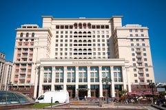 MOSKVA RYSSLAND - OKTOBER 06, 2015: Hotell för fyra säsonger på Manezh Royaltyfri Bild