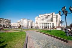 MOSKVA RYSSLAND - OKTOBER 06, 2015: Hotell för fyra säsonger på Manezh Arkivfoto