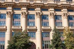 Moskva Ryssland - Oktober 02 2016 Hus ZHOLTOVSKOGO - historisk byggnad, nu Finansiell Korporation för gemensamt materiel system Royaltyfri Foto