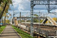 Moskva Ryssland-Oktober 01 2016 Nati station av den Octyabrskaya järnvägen Arkivbilder