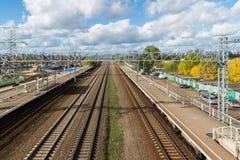 Moskva Ryssland-Oktober 01 2016 Nati station av den Octyabrskaya järnvägen Royaltyfria Foton