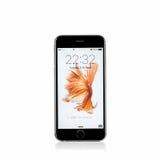 MOSKVA RYSSLAND - OKTOBER 06, 2015: Ny iPhone 6 s Royaltyfri Bild