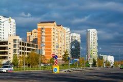 Moskva Ryssland - Oktober 10 2017 20 områden av Zelenograd det administrativa området Arkivbilder