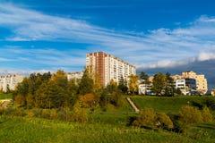 Moskva Ryssland - Oktober 10 2017 16 områden av Zelenograd det administrativa området Arkivbild