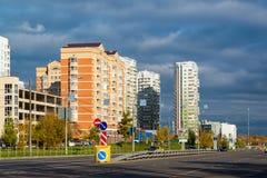 Moskva Ryssland - Oktober 10 2017 20 områden av Zelenograd det administrativa området Arkivfoton