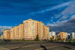 Moskva Ryssland - Oktober 10 2017 20 områden av Zelenograd det administrativa området Royaltyfria Bilder