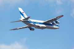 Moskva Ryssland - Oktober 31 sovjetisk lastnivå Antonov An124 Royaltyfri Bild