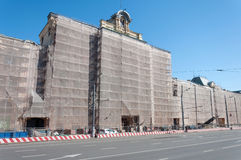 MOSKVA RYSSLAND - 21 09 2015 Polytechnical museum Arkivfoto